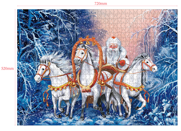 1000 Pieces Of Paper Puzzle-Santa-Claus, Christmas Piece Jigsaw Puzzle, Funny Family Playing Jigsaw Puzzle Game 2