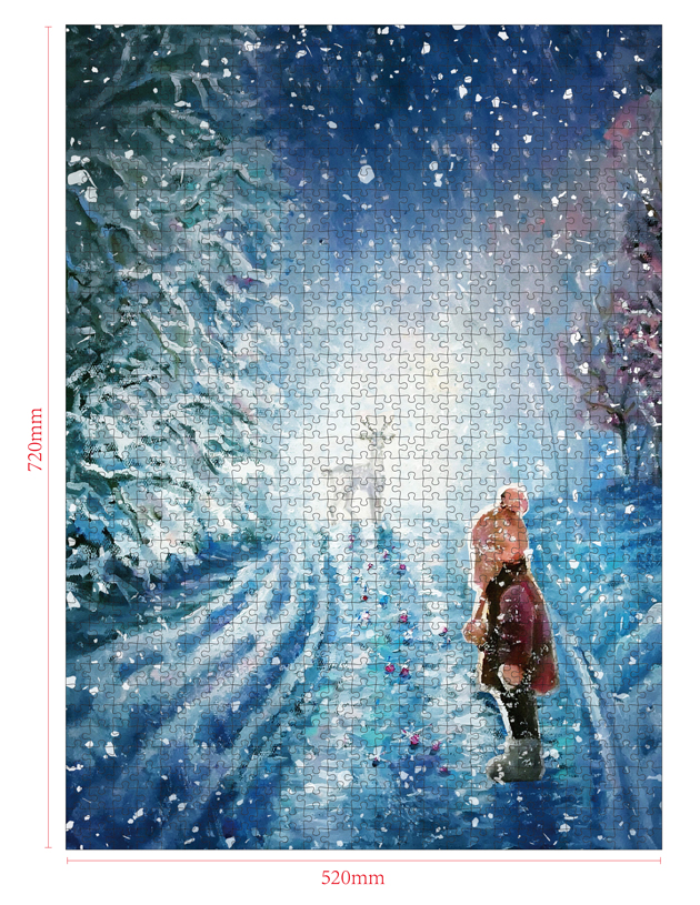 1000 Pieces Of Paper Puzzle-Fairytale Deer , Christmas Piece Jigsaw Puzzle, Funny Family Playing Jigsaw Puzzle Game 2