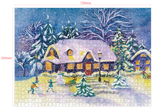 1000 Pieces Of Paper Puzzle-Christmas Joy, Christmas Piece Jigsaw Puzzle, Funny Family Playing Jigsaw Puzzle Game 2