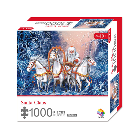 1000 Pieces Of Paper Puzzle-Santa-Claus, Christmas Piece Jigsaw Puzzle, Funny Family Playing Jigsaw Puzzle Game 1