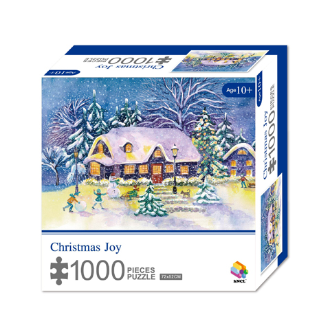 1000 Pieces Of Paper Puzzle-Christmas Joy, Christmas Piece Jigsaw Puzzle, Funny Family Playing Jigsaw Puzzle Game 1