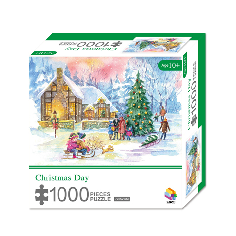 1000 Pieces Of Paper Puzzle-Christmas Day, Christmas Piece Jigsaw Puzzle, Funny Family Playing Jigsaw Puzzle Game 1