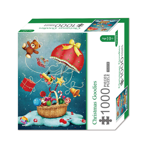 1000 Pieces Of Paper Puzzle-Christmas Goodies , Christmas Piece Jigsaw Puzzle, Funny Family Playing Jigsaw Puzzle Game 1