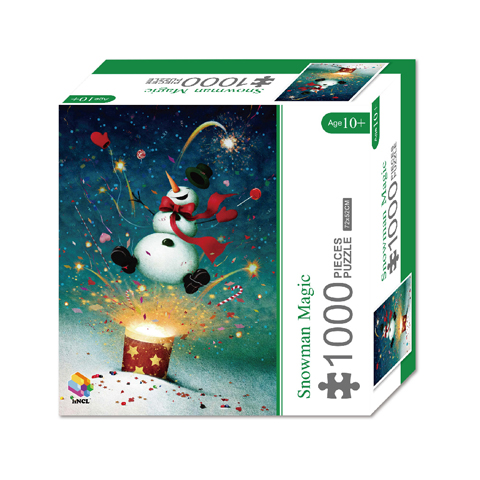 1000 Pieces Of Paper Puzzle-Snowman Magic , Christmas Piece Jigsaw Puzzle, Funny Family Playing Jigsaw Puzzle Game 1