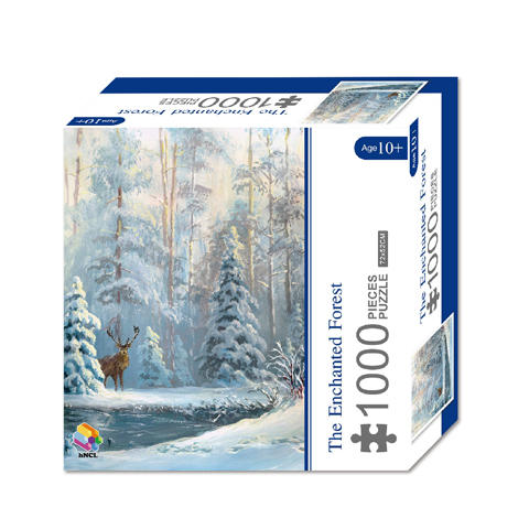 1000 Pieces Of Paper Puzzle-The Enchanted Forest , Christmas Piece Jigsaw Puzzle, Funny Family Playing Jigsaw Puzzle Game 1