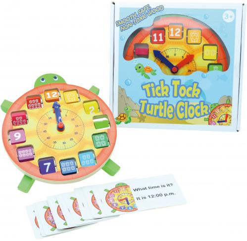 Tick Tock Turtle Clock with Learning Cards, Educational Toys, Learning Clock 1