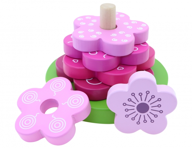 Flower Stacker, Educational Toys, Wooden Toys, Trip Games 3