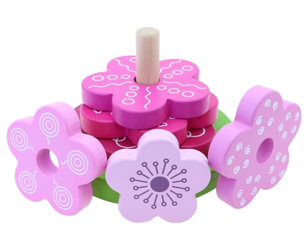 Flower Stacker, Educational Toys, Wooden Toys, Trip Games 4
