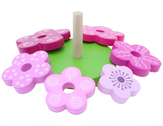 Flower Stacker, Educational Toys, Wooden Toys, Trip Games 5