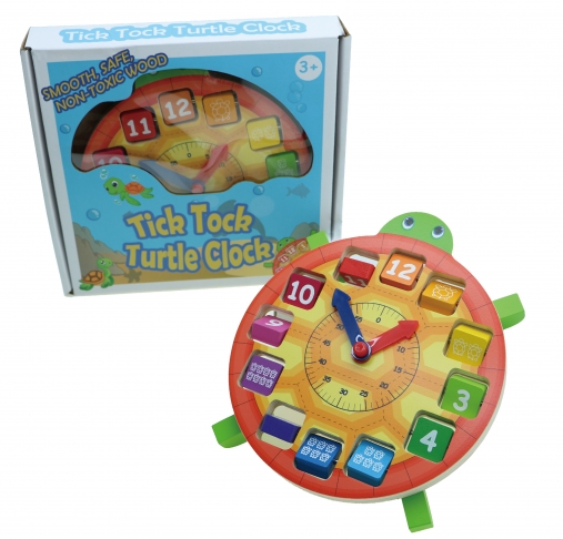 Tick Tock Turtle Clock, Educational Toys, Learning Clock 1