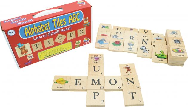 Alphabet Tiles ABC, Educational Toys, Tabletop Games, Wooden Toys 2