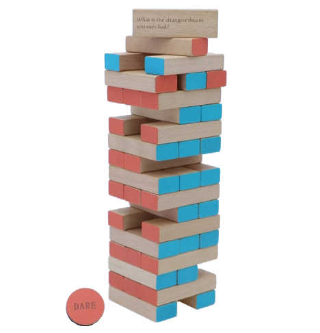 Tropple: Truth or Dare, Wooden Games, Wooden Stackers 3