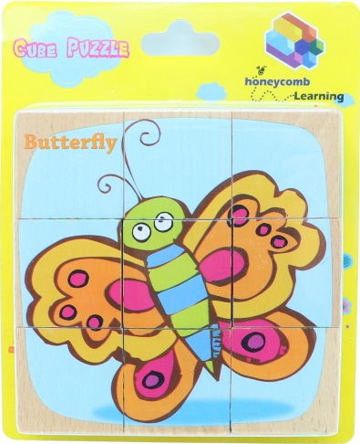 Cube Puzzle - Bugs, Educational Toys, Puzzles, Wooden Toys 1