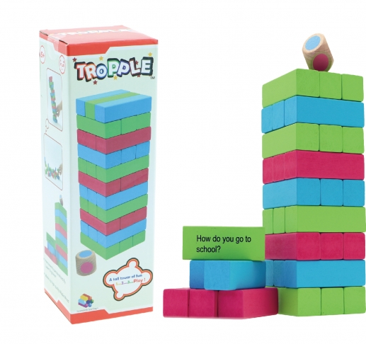 Tropple: Level 1, Educational Toys, Wooden Stackers, Wooden Games 1