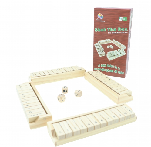 Shut The Box The Ultimate Version, Math Games, Brain Games, Wooden Games 1