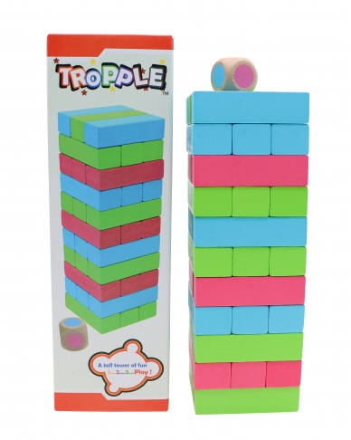 Tropple: Level 1, Educational Toys, Wooden Stackers, Wooden Games 2