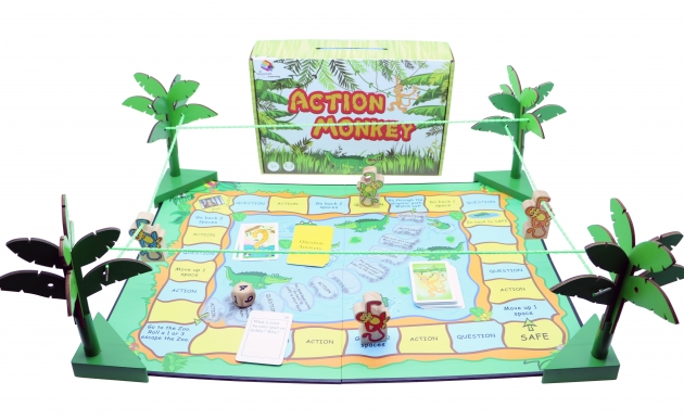 Action Monkey, Wooden Games, Family Games, Board Games 1