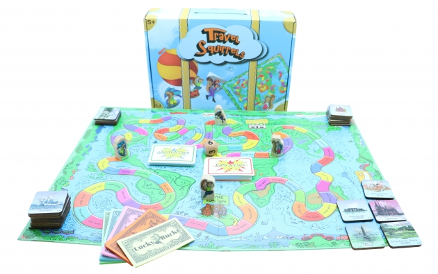 Travel Squirrels, Wooden Games, Tabletop Games, Family Games 2