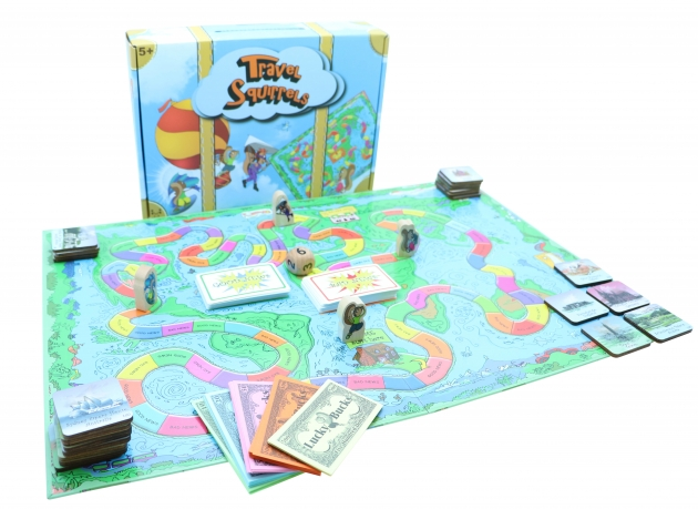 Travel Squirrels, Wooden Games, Tabletop Games, Family Games 3