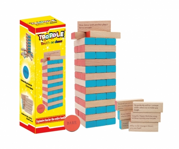 Tropple: Truth or Dare, Wooden Games, Wooden Stackers 1