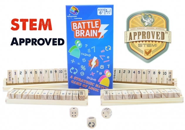 Battle Brains, Math Games, Brain Games, Wooden Games, STEM Toy 1