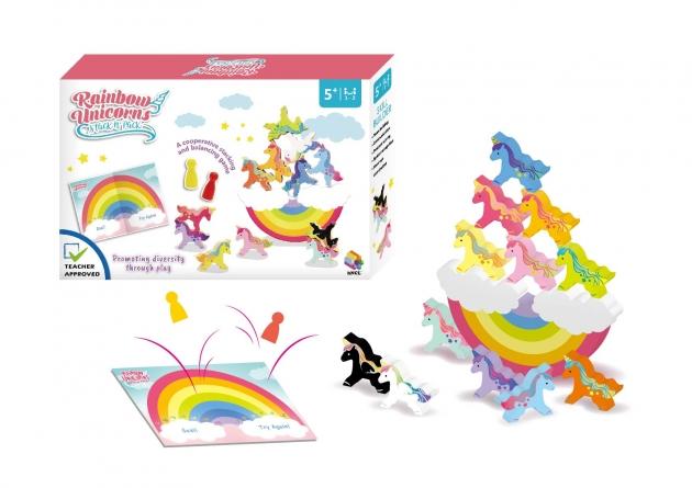 Rainbow Unicorns Stack n