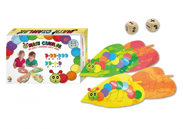 Math Crawler, Educational Learning Toys, Math Games, Wooden Toys, Wooden Games 1