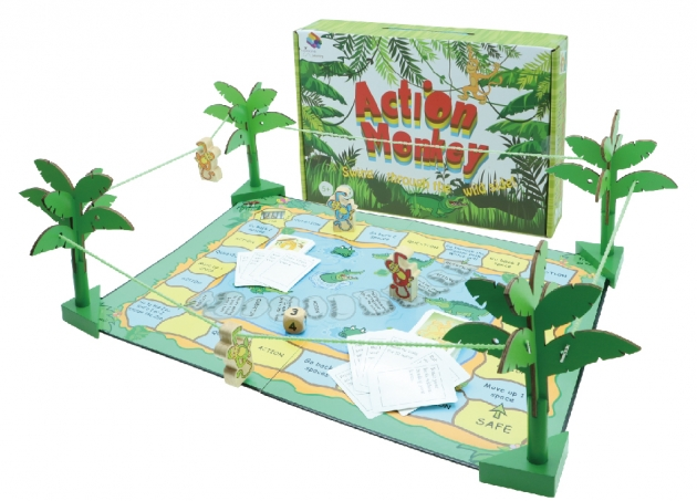 Action Monkey, Wooden Games, Family Games, Board Games 2