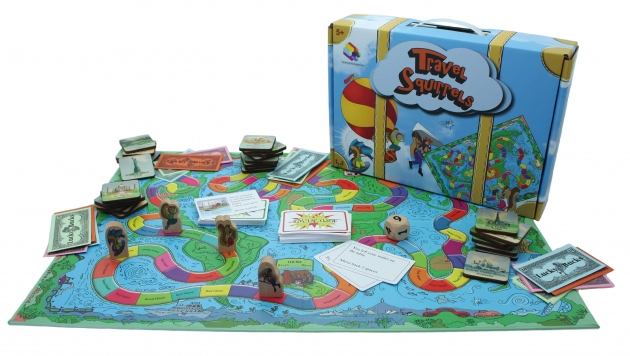 Travel Squirrels, Wooden Games, Tabletop Games, Family Games 1