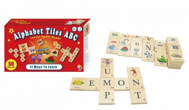 Alphabet Tiles ABC, Educational Toys, Wooden Puzzle, Wooden Toys 1