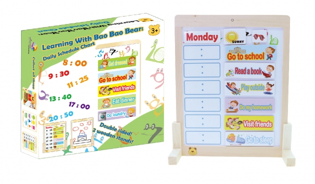 Learning With Bao Bao Bear-Daily Schedule Chart, Eductational Toys, Learning Toys, Magnetic Toys 2