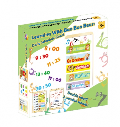 Learning With Bao Bao Bear-Daily Schedule Chart, Eductational Toys, Learning Toys, Magnetic Toys 1