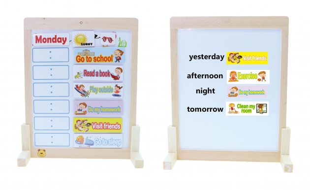 Learning With Bao Bao Bear-Daily Schedule Chart, Eductational Toys, Learning Toys, Magnetic Toys 3