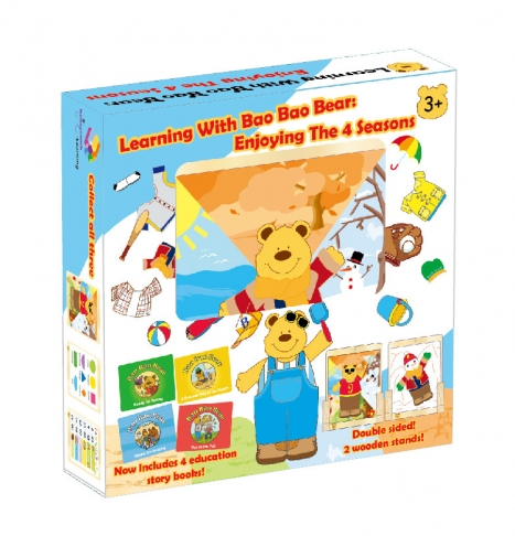 Learning With Bao Bao Bear-Enjoying the 4 Seasons, Educational Toys, Magnetic Toys 1