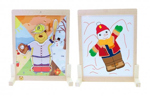 Learning With Bao Bao Bear-Enjoying the 4 Seasons, Educational Toys, Magnetic Toys 3