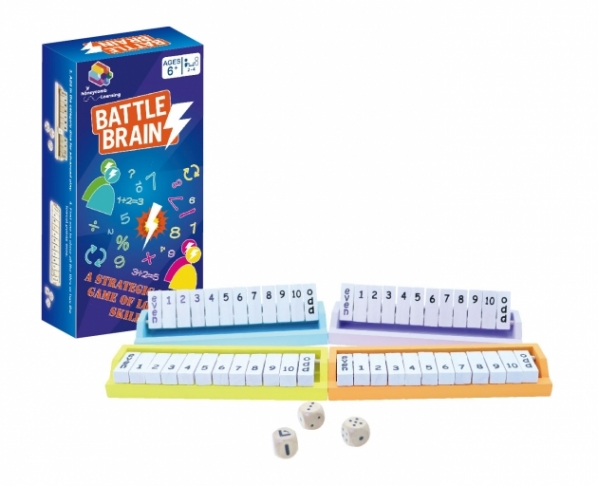 Battle Brains (Colorful), Math Games, Brain Games, Wooden Games, STEM Toy 1