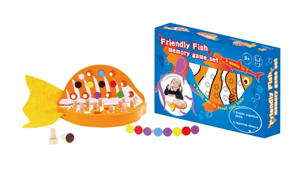 Friendly Fish Memory Game Set, Educational Toys, Brain Games, Wooden Games 1