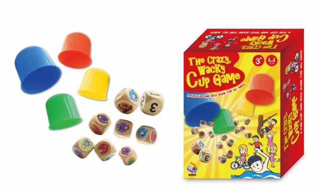 The Crazy, Wacky Cup Game, Brain Games, Board Games, Wooden Toys, Smart Games 1