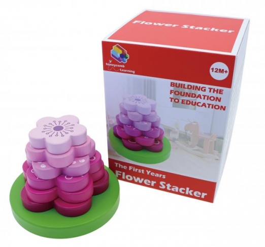 Flower Stacker, Educational Toys, Wooden Toys, Trip Games 1